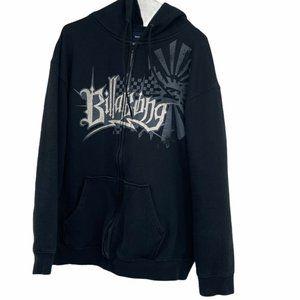Billabong black men's large graphic hoodie